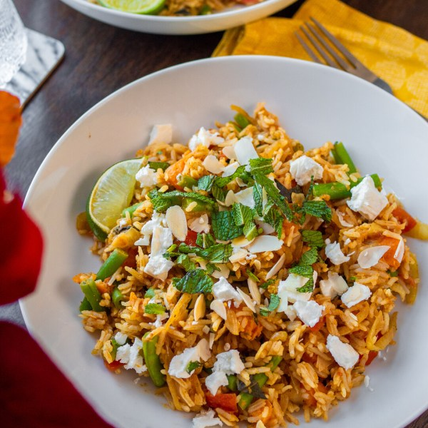 AD   Aromatic Sweet Potato Biryani + a post-Veganuary update!