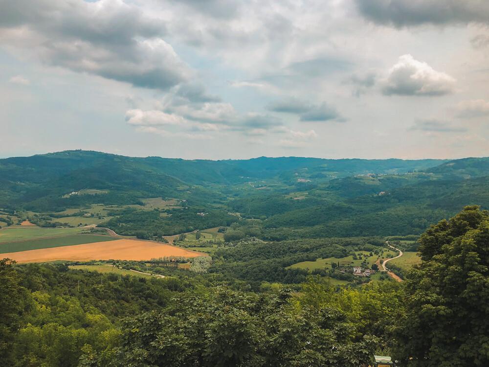 views from the city walls, Motovun