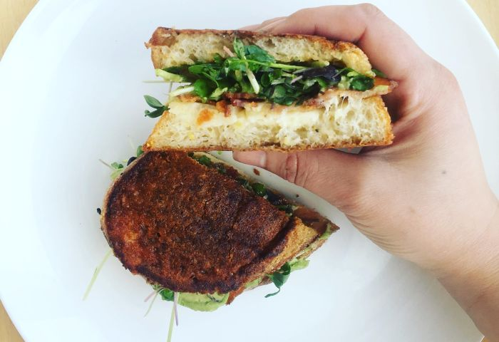 Grilled Cheese Sandwich With Black Garlic Mayo Little Miss Taco