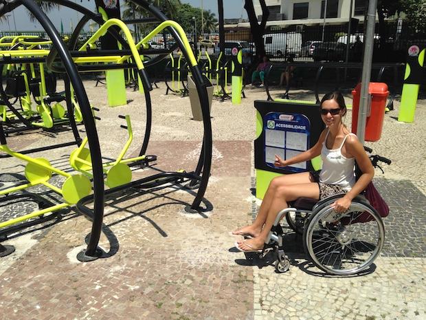 Accessible gym near Copacabana