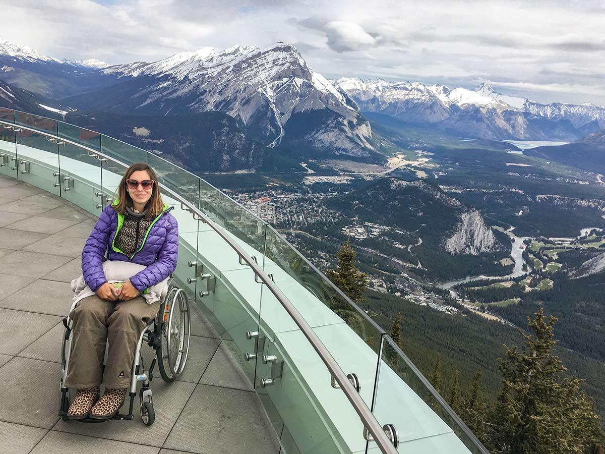 Amazing views of Banff in a wheelchair | Little Miss Turtle | Wheelchair Travel Blog