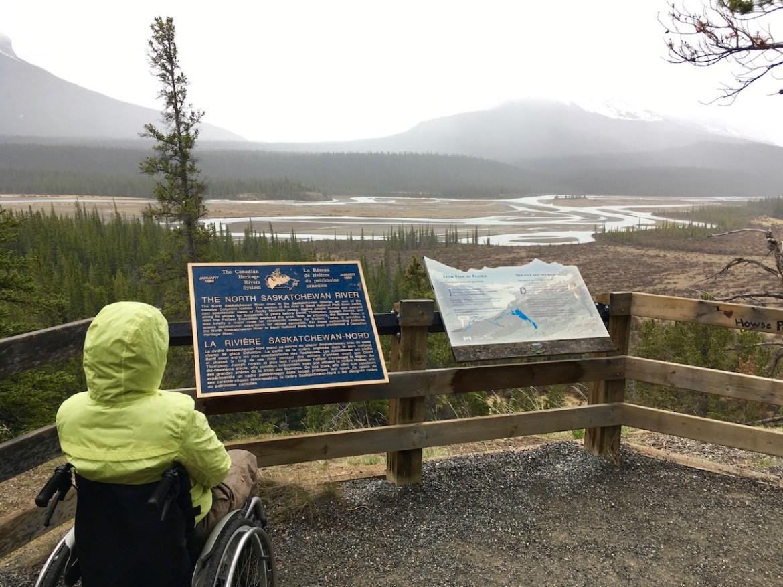 Accessible Saskatchewan River Crossing Viewpoint ©
