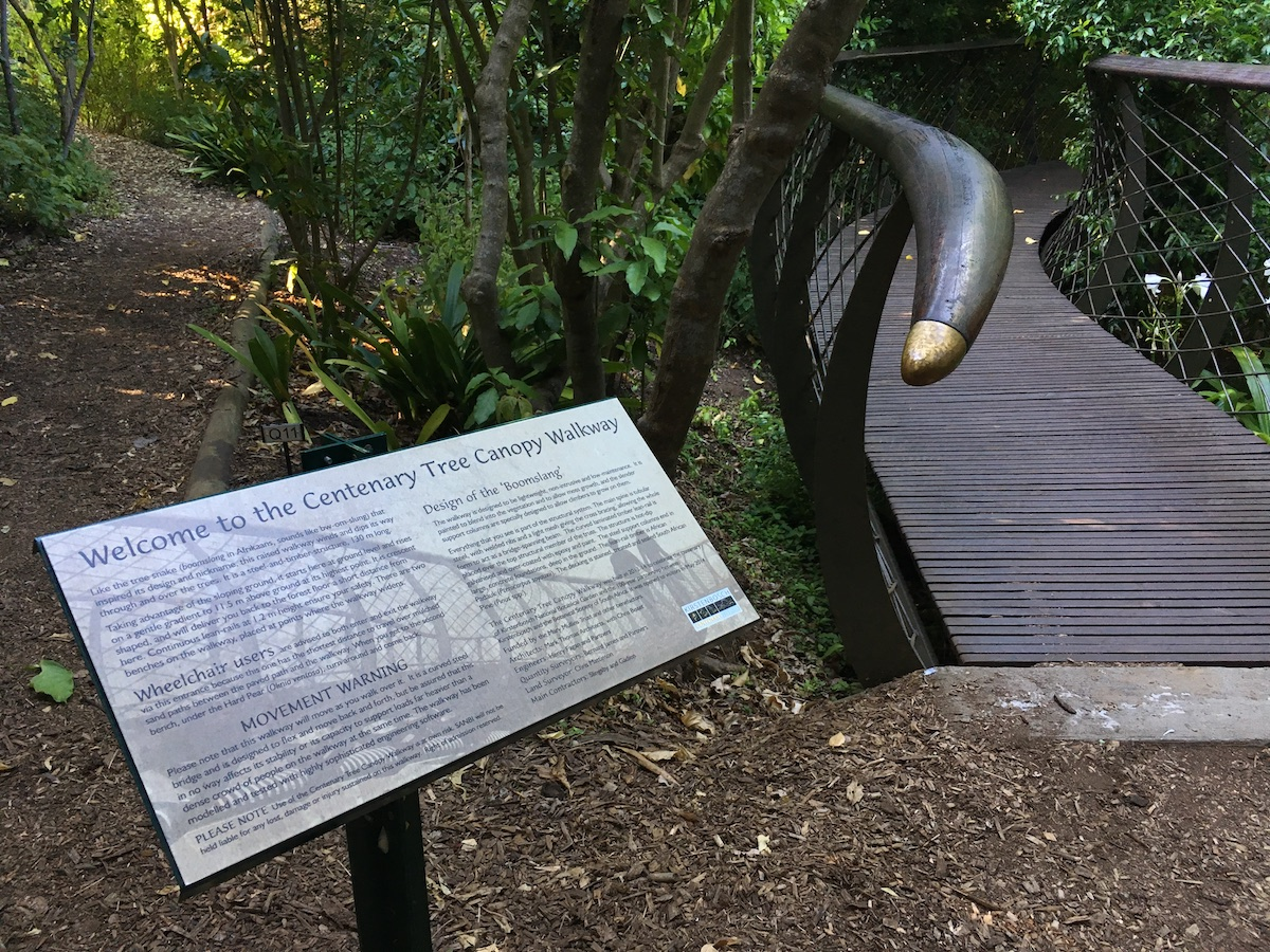 Tree Canopy Walkway entrance at Kirstenbosch National Botanical Garden