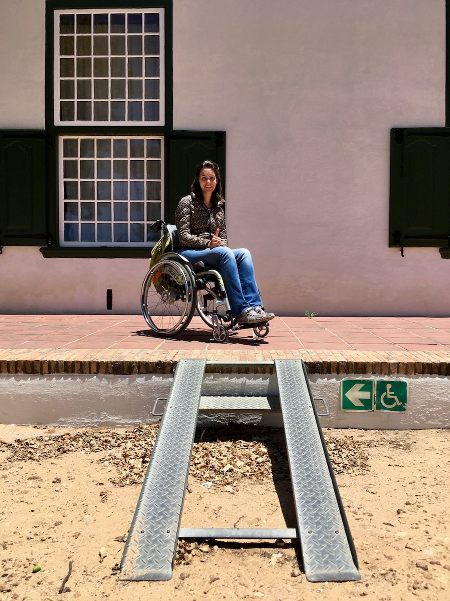Wheelchair-access ramp at Groot Constantia
