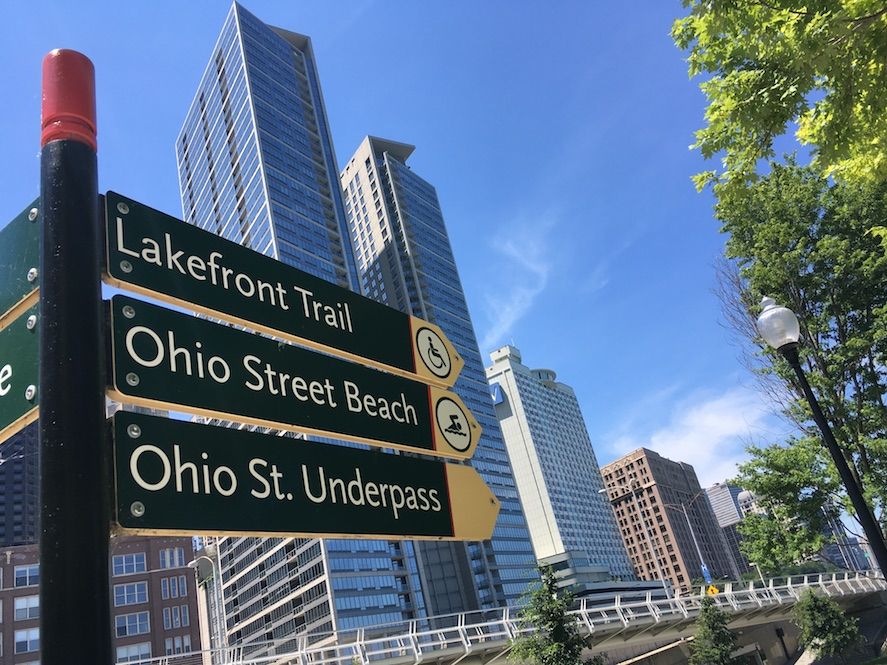 Wheelchair-accessible Lakefront Trail Chicago | Little Miss Turtle