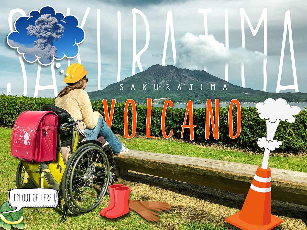 Sakurajima Ferry & Sakurajima Volcano in a wheelchair   Little Miss Turtle