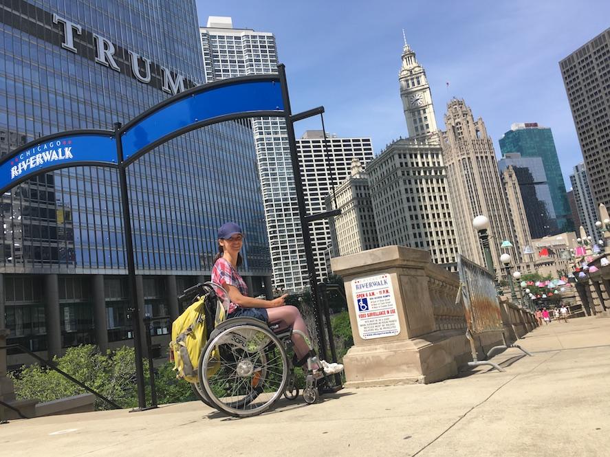 Wheelchair-accessible Chicago Riverwalk | Little Miss Turtle