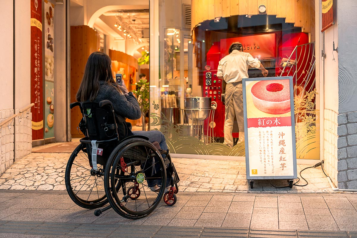 Access ramp to shop in Naha