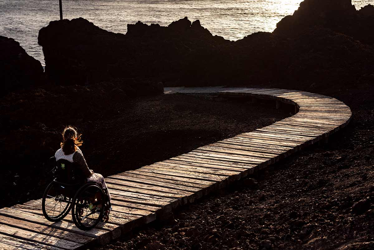 Accessible walkway at Punta de Teno