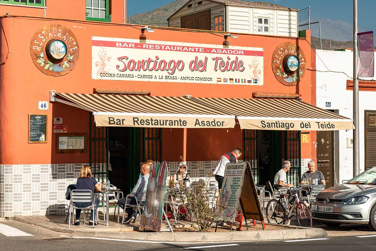 Inaccessible restaurant Santiago del Teide