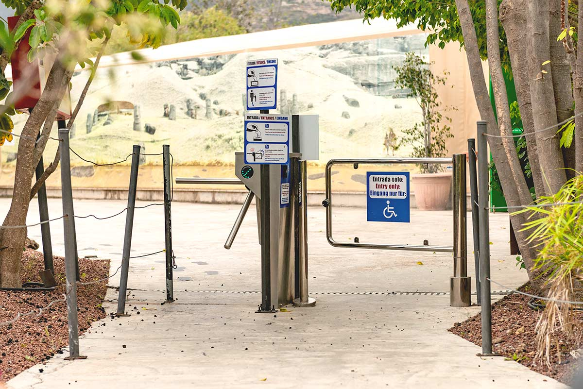 Wheelchair entrance gate