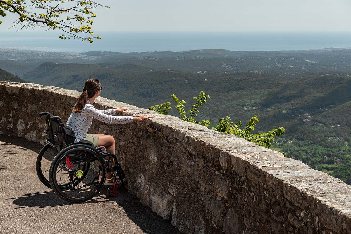 Enjoying the view from Gourdon | Little Miss Turtle | Wheelchair Travel Blog