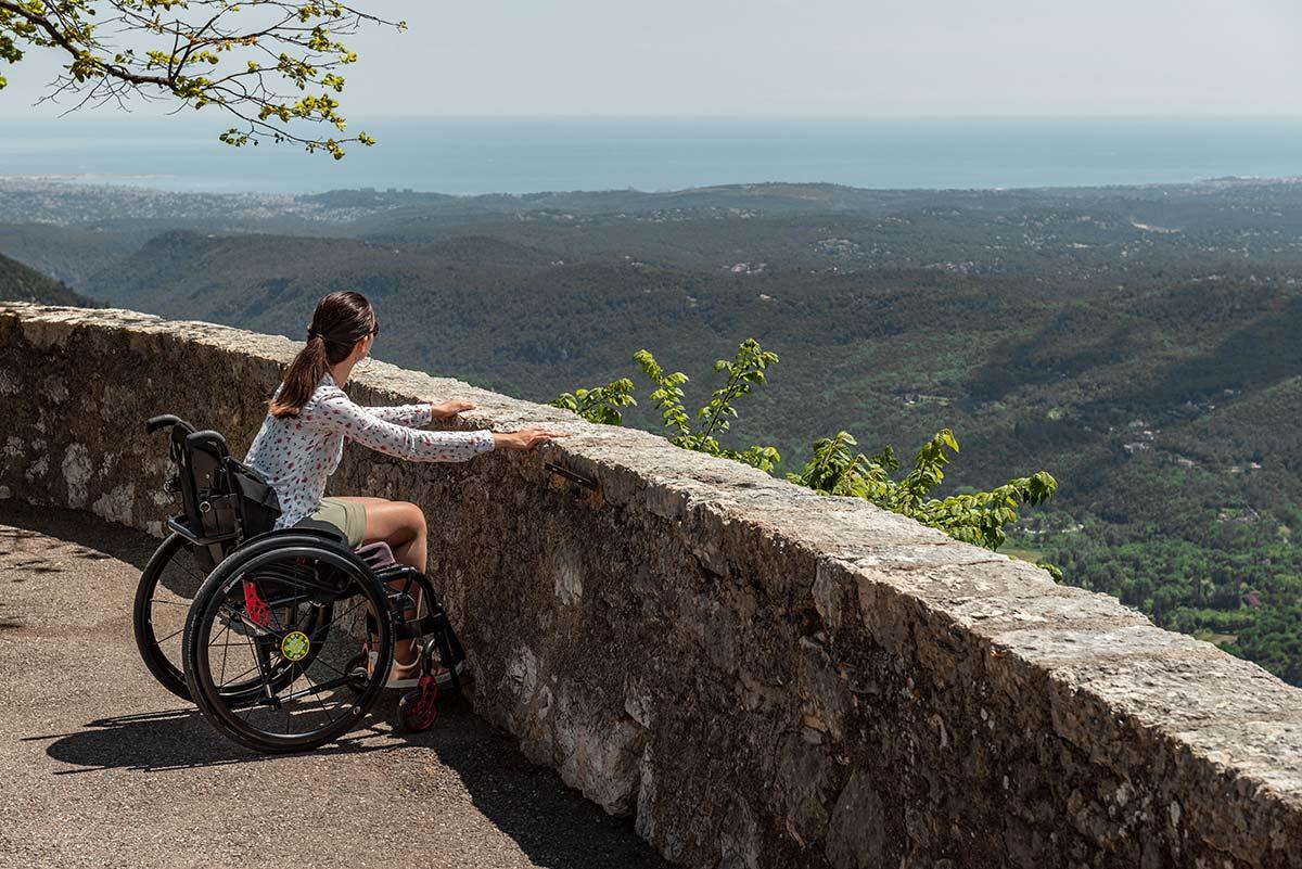 Enjoying the view from Gourdon | Little Miss Turtle | Wheelchair Travel Blog
