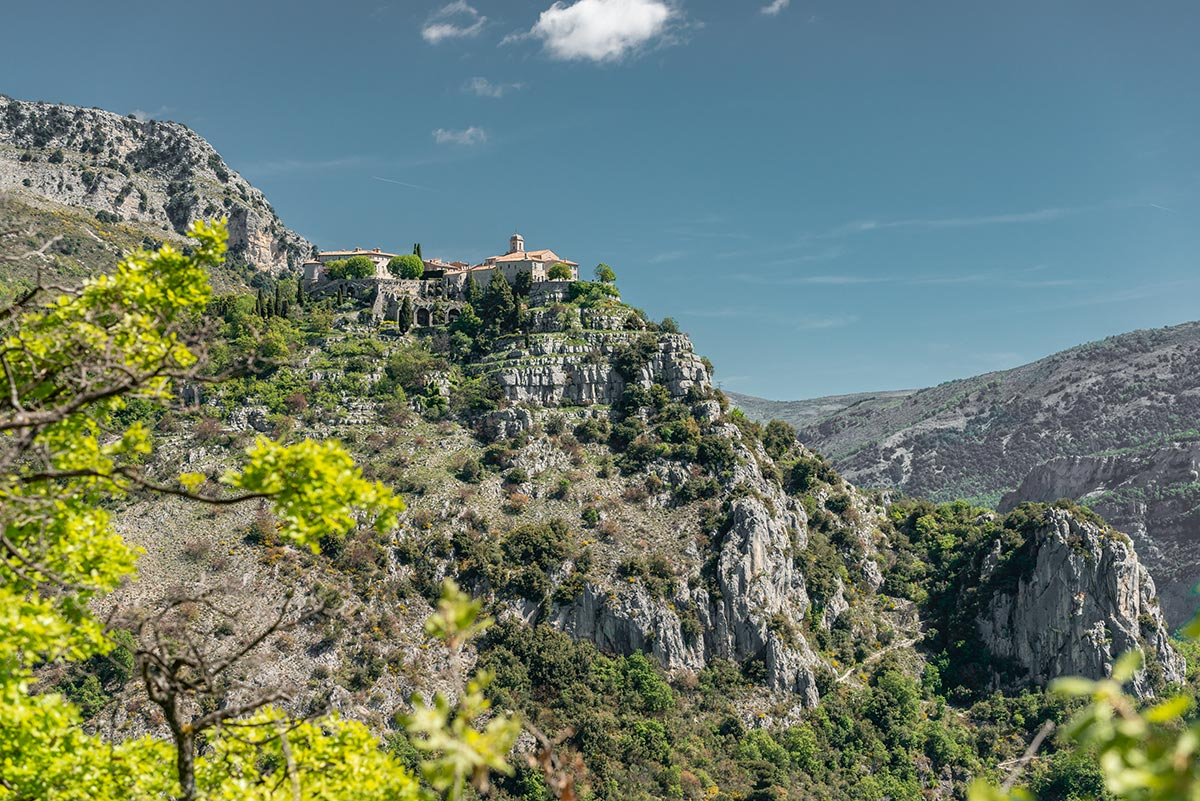 Gourdon seen from viewpoint on D3 | Little Miss Turtle | Wheelchair Travel Blog