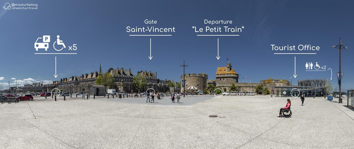 Accessible Tourist Office at Gate Saint-Vincent | Little Miss Turtle | Wheelchair Travel Blog