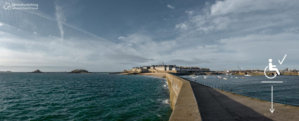 Accessible pier to the Lighthouse of St Malo | Little Miss Turtle | Wheelchair Travel Blog