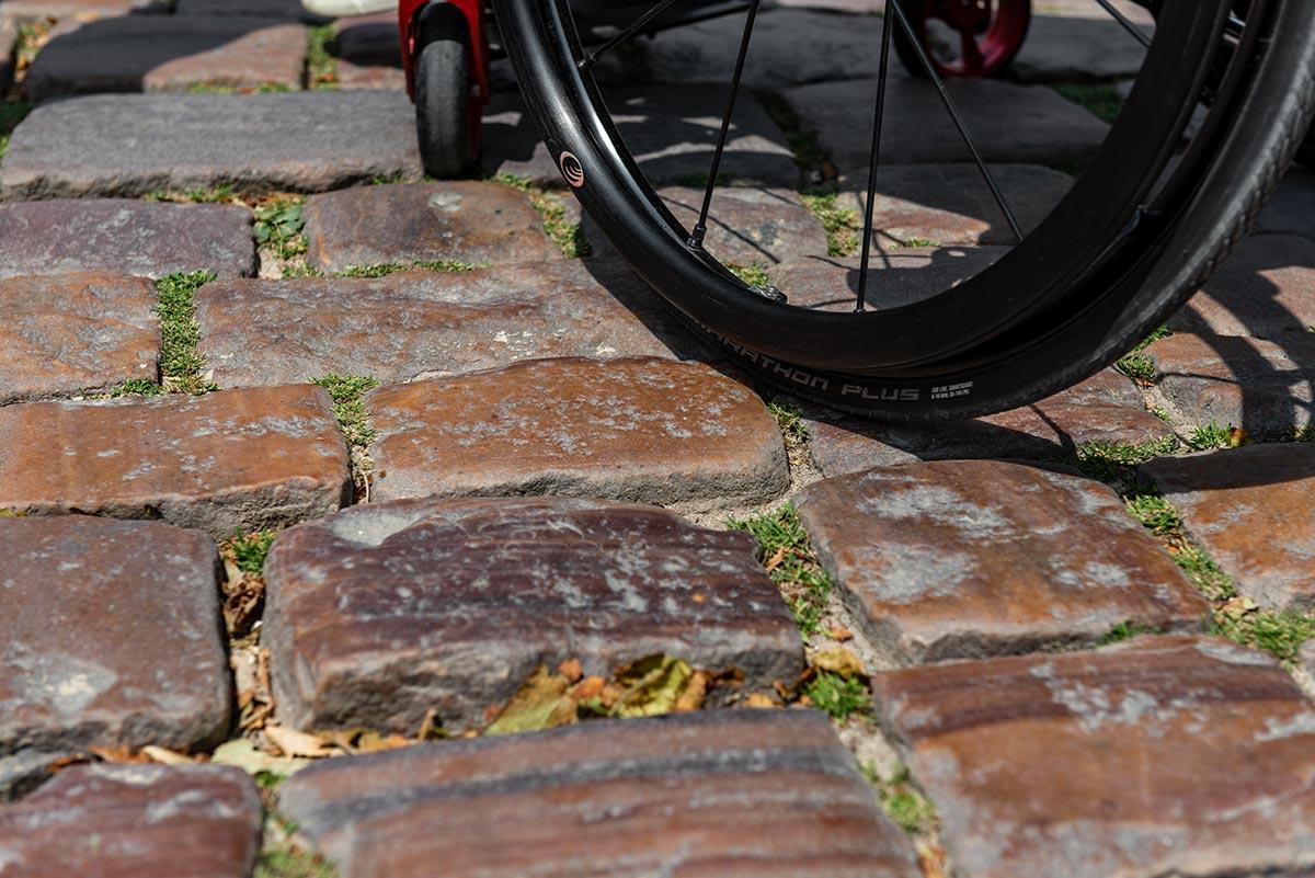 Cobblestone in St Malo | Little Miss Turtle | Wheelchair Travel Blog