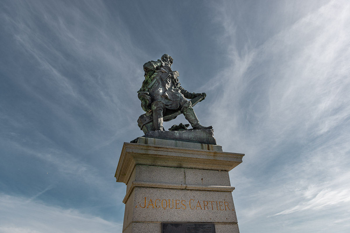 Statue of Jacques Cartier | Little Miss Turtle | Wheelchair Travel Blog