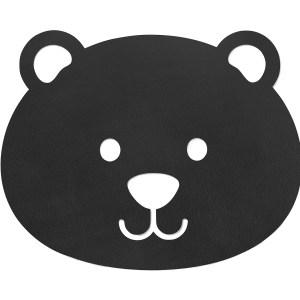 LIND DNA | KIDS BEAR FLOOR MAT SMALL, BLACK