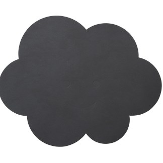 LIND DNA | KIDS CLOUD TABLE MAT, ANTHRACITE GREY