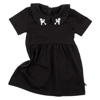 CARLIJNQ | KJOLE, LITTLE BLACK POODLE DRESS, SORT