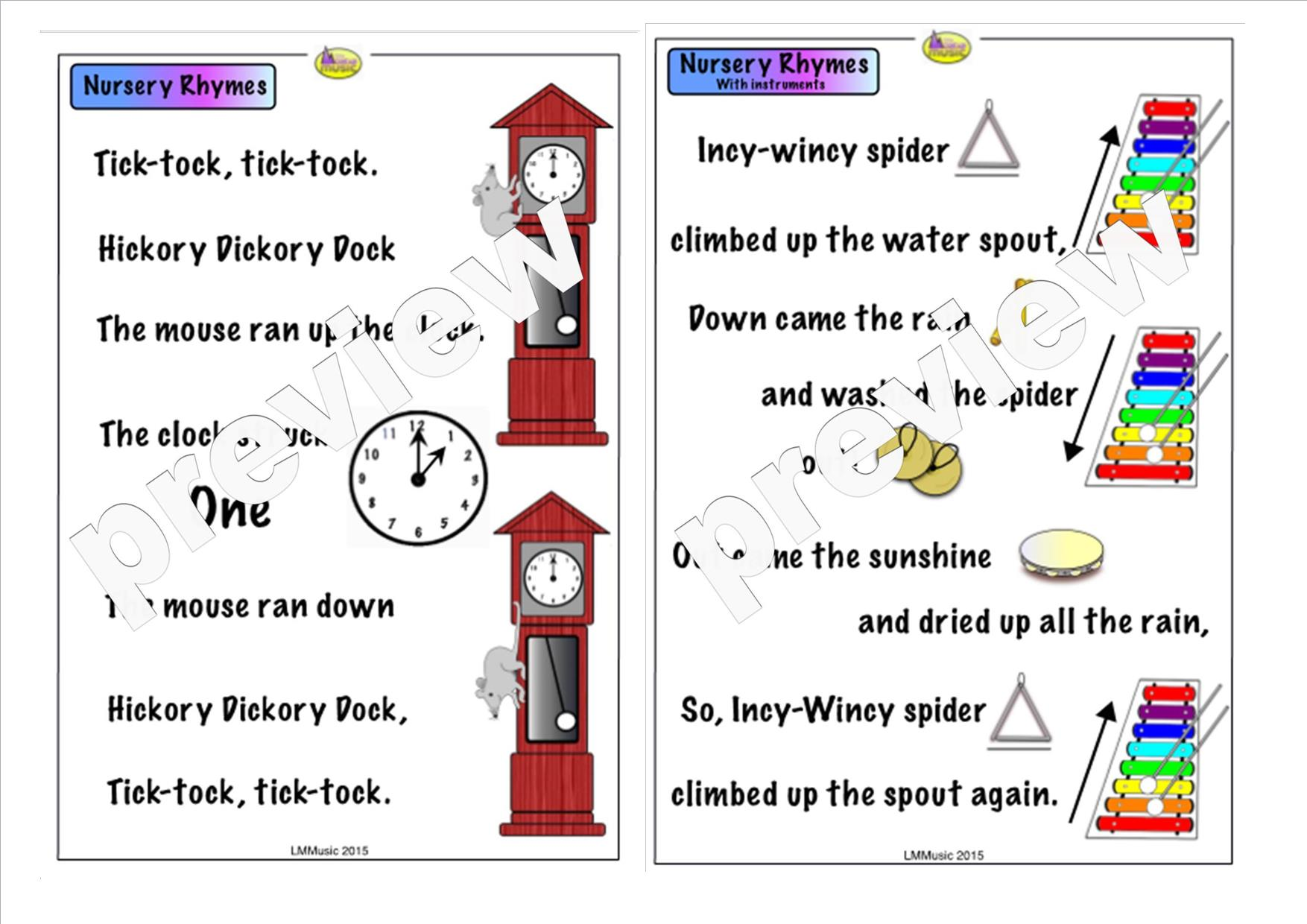 First Sound Poems Nursery Rhymes Little Mountain Music