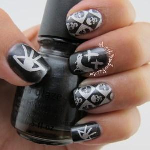 Punk rock nail art manicure