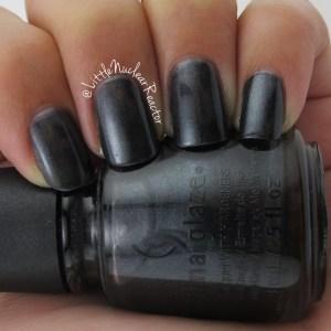 China Glaze's in Black Diamond nail swatch