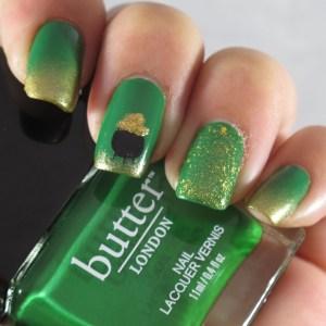 Saint Patricks Day nail art