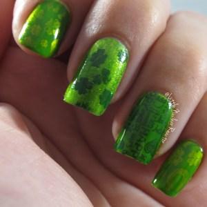 Saint Patricks Shamrock nail art