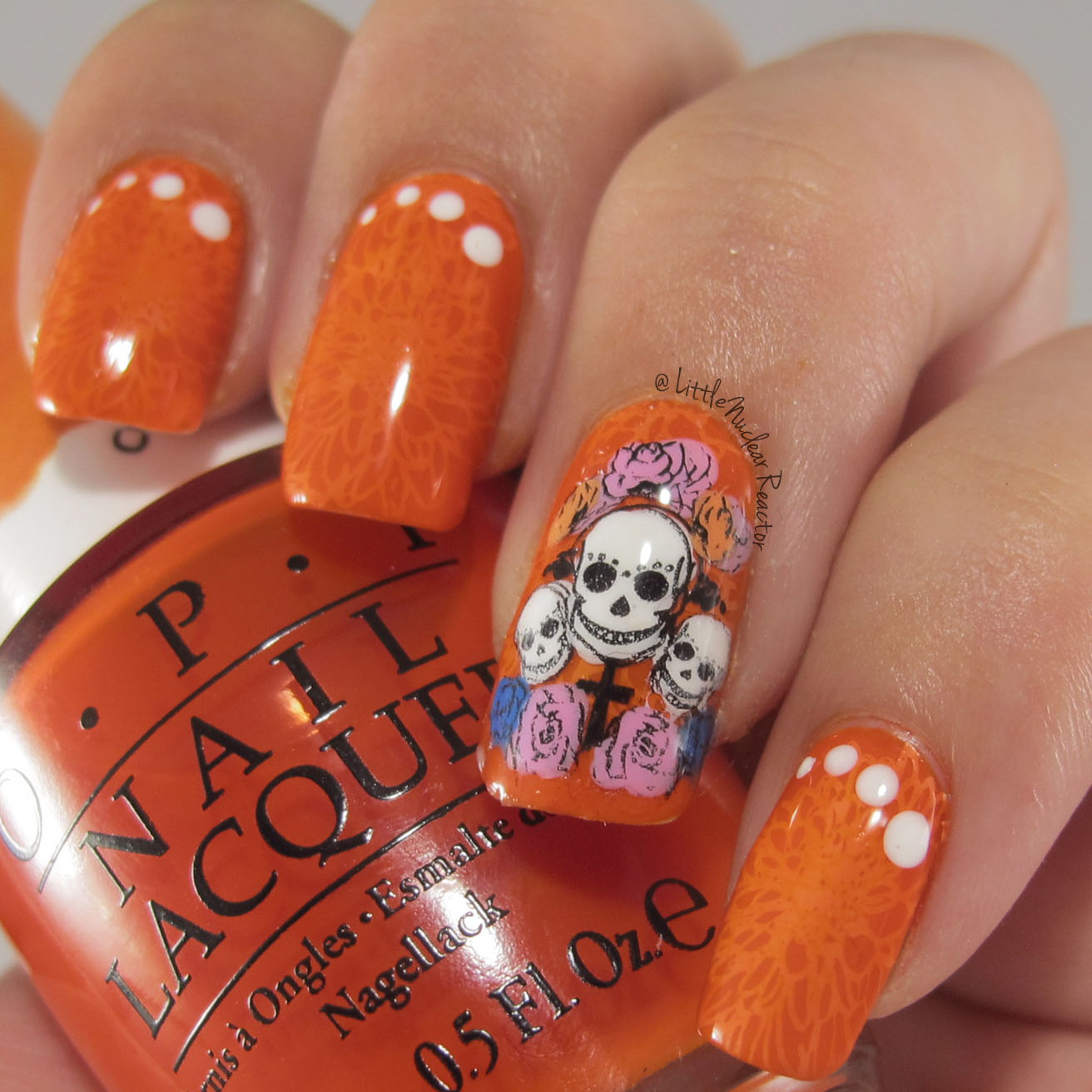 Dia De Los Muertos (Day of the Dead) Nail Art ~ LittleNuclearReactor