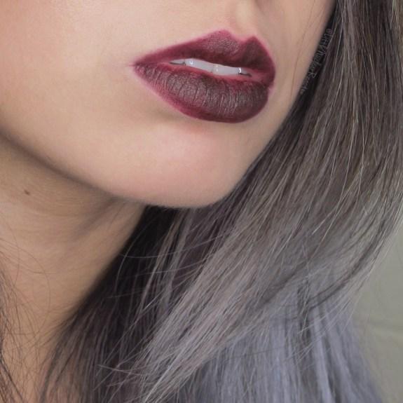 Kat Von D Studded Kiss lipstick swatch in Homegirl