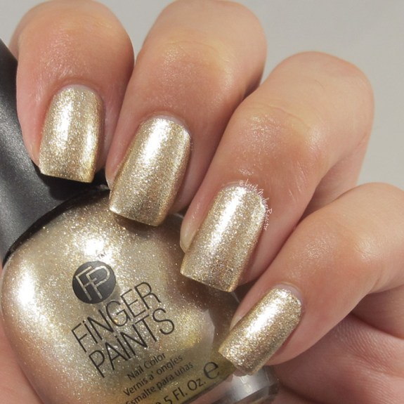 Finger Paints nail polish swatch in Golden Glaze