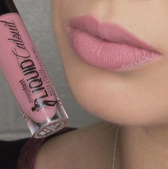 Megalast Liquid Catsuit lipstick in Rebel Rose lip swatch