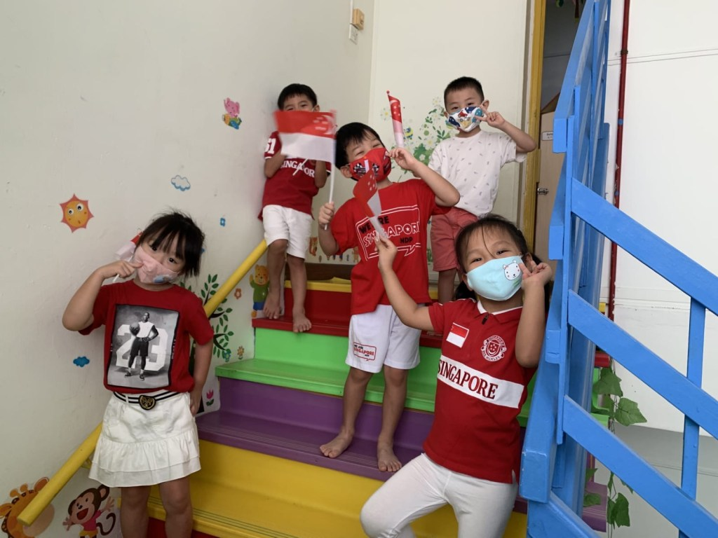 2020 National Day celebration is a special one in Little Palm Preschool. with mask and many other restrictions, but that did not dampen our children's spirit for their love of Singapore. Our children for the future of Singapore and fostering them with the love for Singapore is one of the important things that we as preschool teachers can do.
