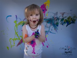 Birthday photography Kent paint splash boy covered in paint