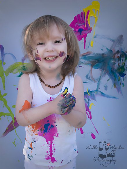 Birthday photography Kent Paint splash happy boy