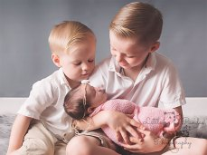 Big brothers and baby sister