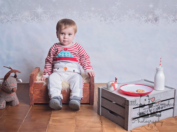 Little boy with milk and cookies
