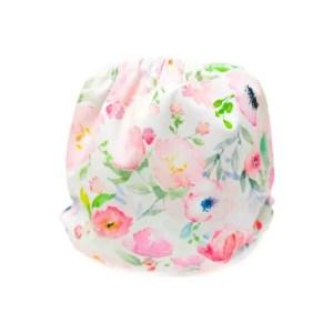 couches de bain lavables pour bébé bouquet de fleurs