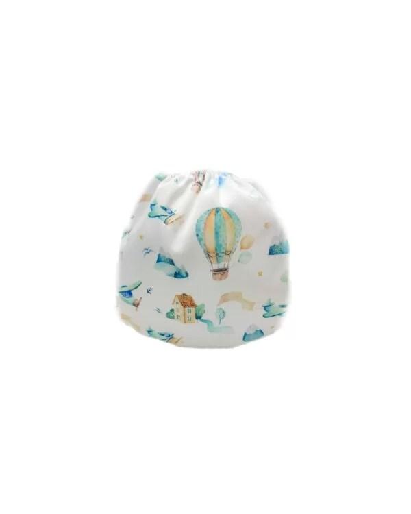 couches de bain lavables pour bébé pink montgolfièr