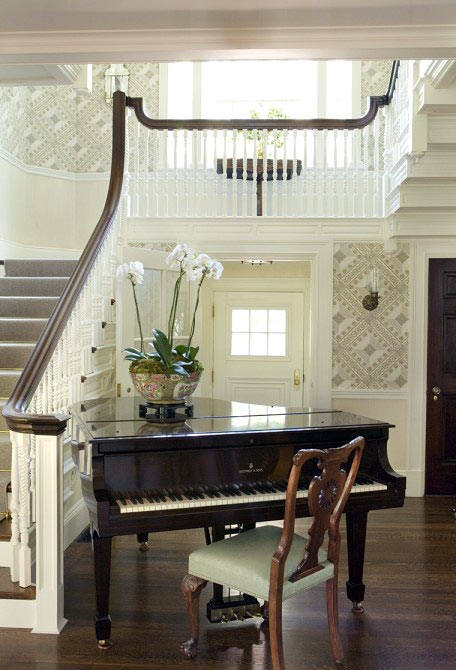 White Baby Grand Piano Home