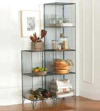 Simple wire mesh shelves   Little Piece Of Me Wire mesh shelves