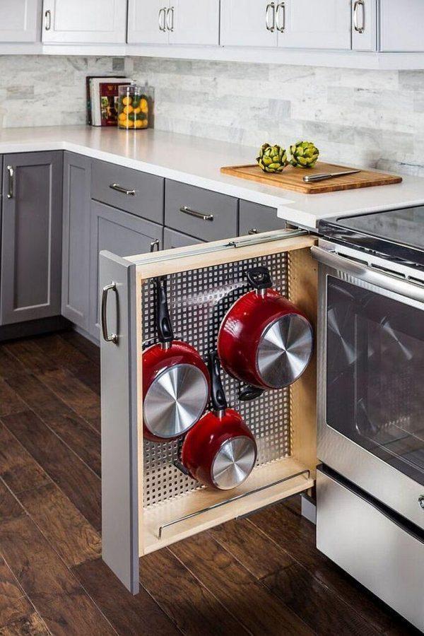 pegboard kitchen drawer organizer