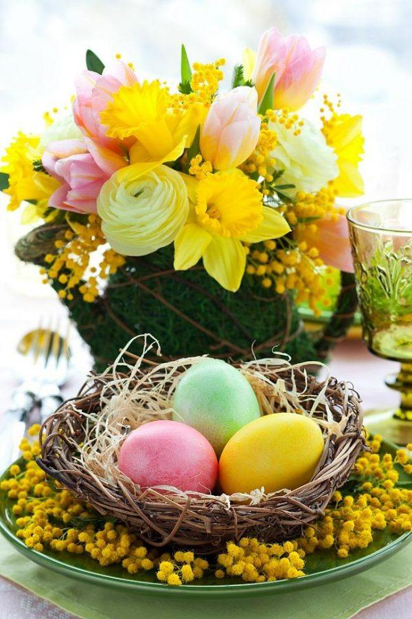 easter flower centerpieces