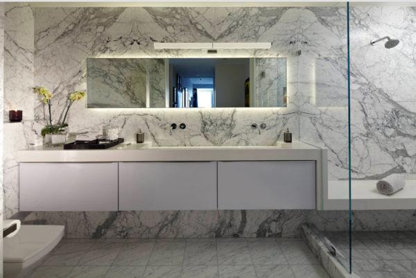 floating bathroom cabinet