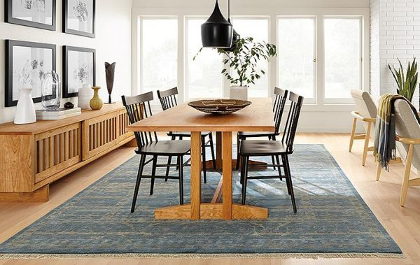 light wood dining room table