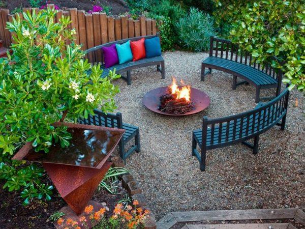 garden seating area designs