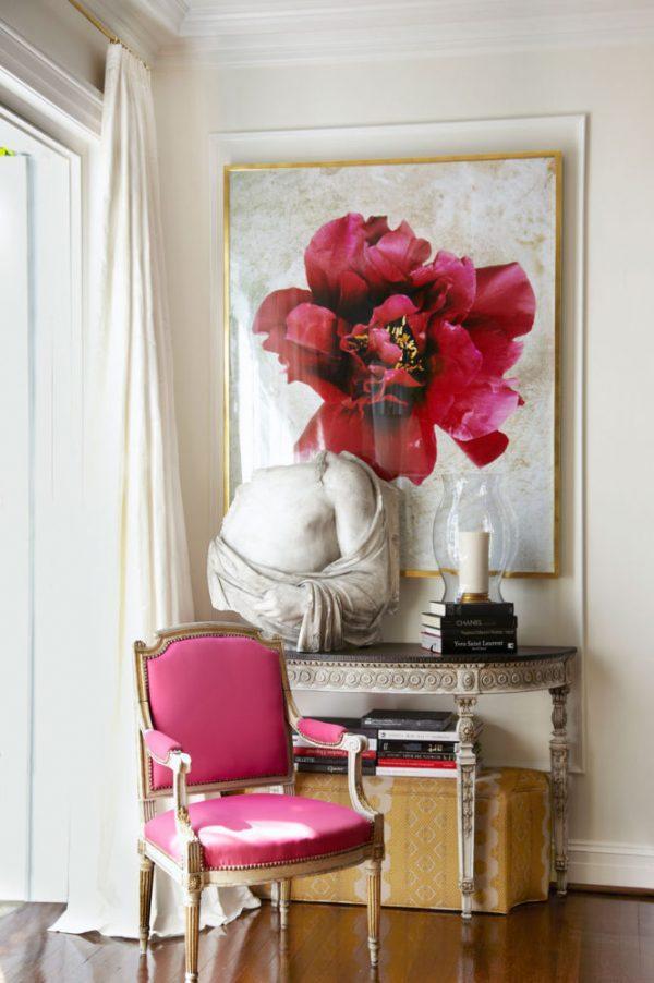 rose decoration in room