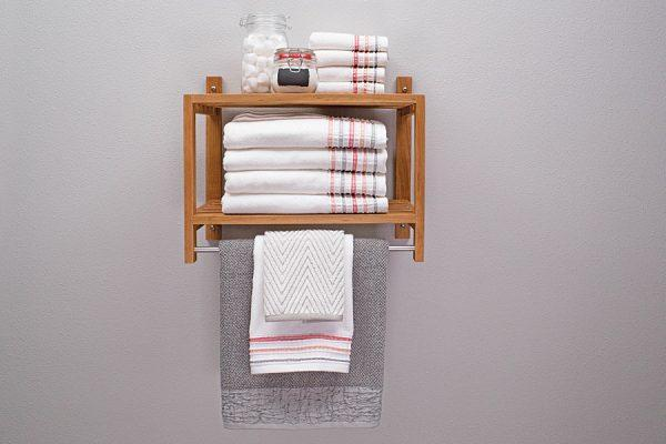 bathroom racks and shelves